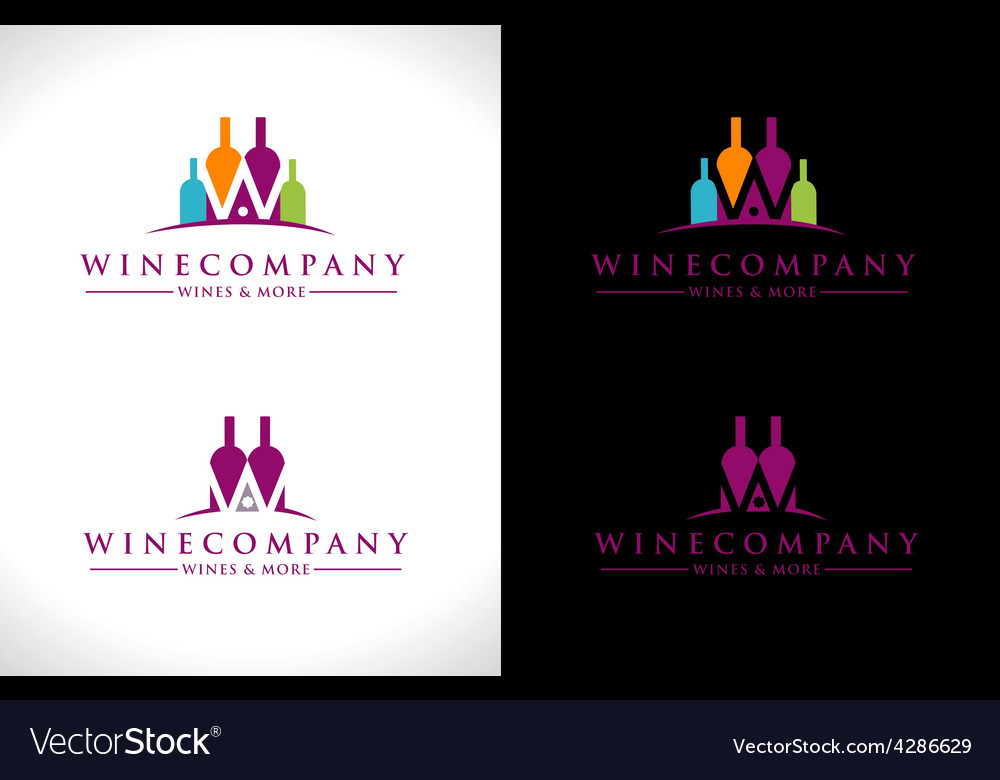 Wine logo design vector