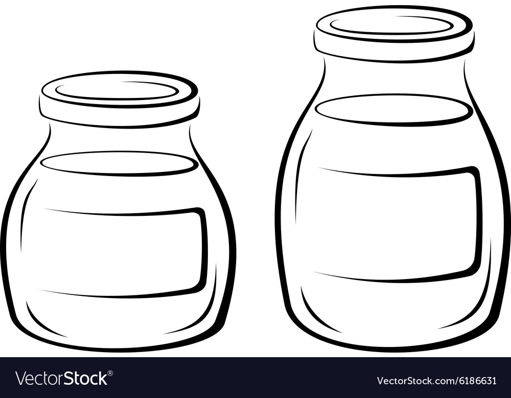 Glass jars black pictograms vector