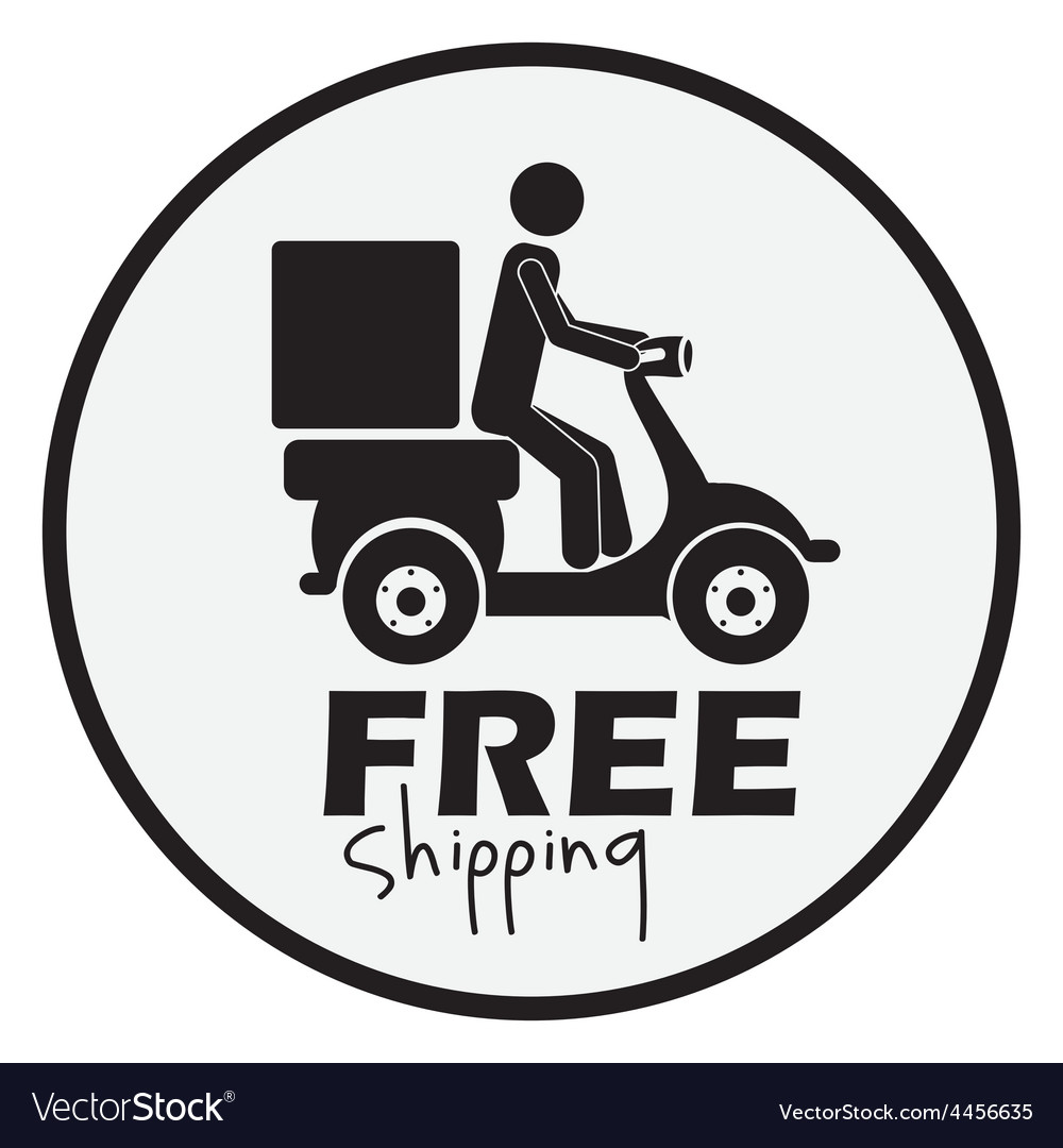 Free delivery design vector