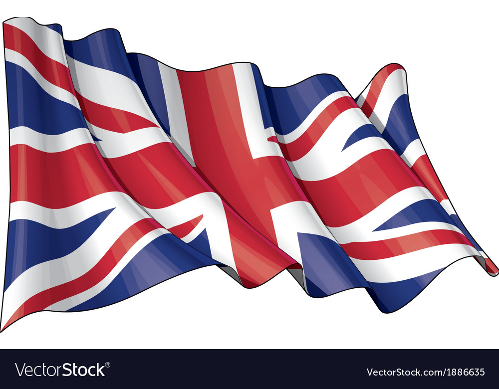 Uk flag grunge vector