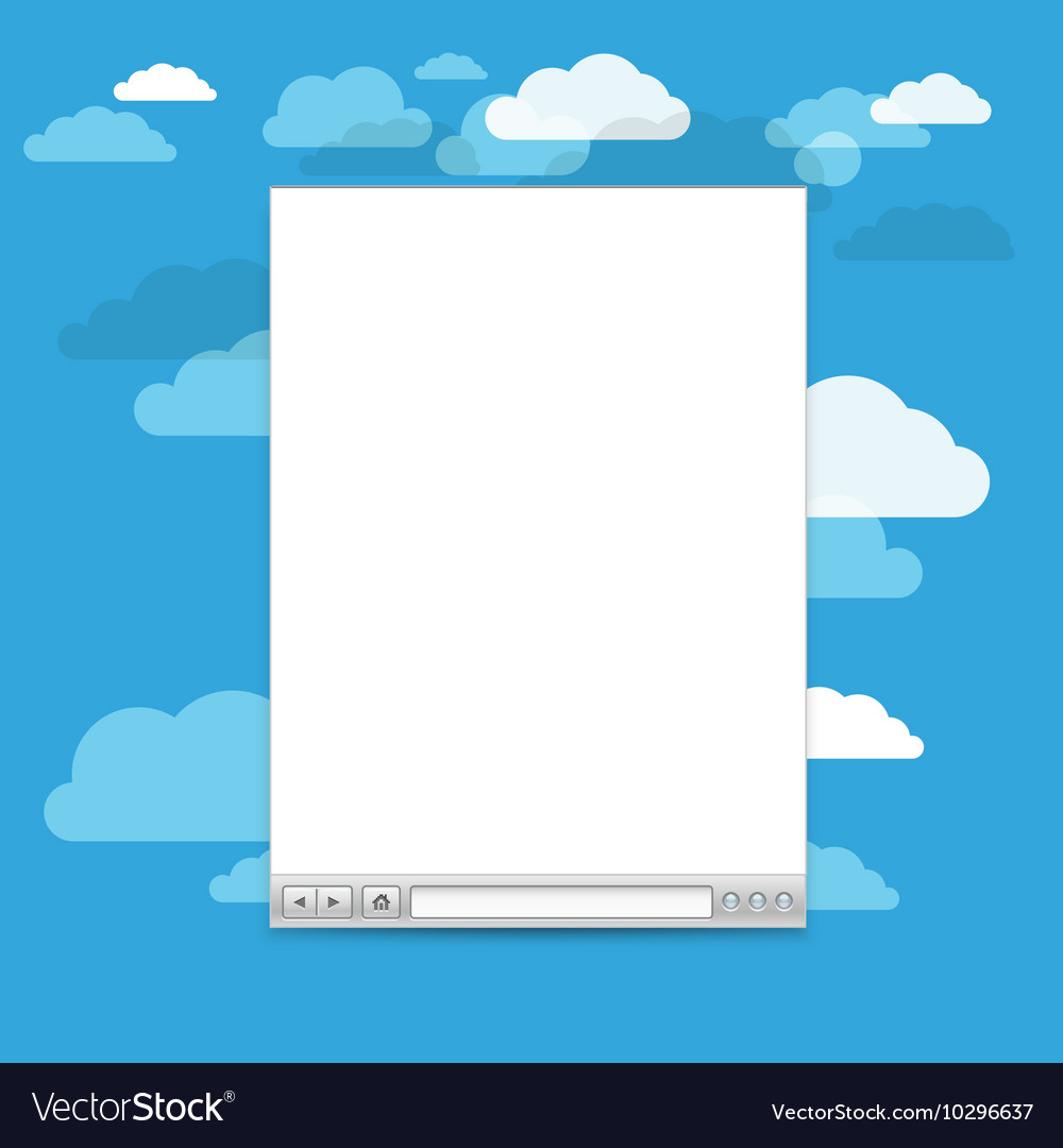 Opened browser windows template past your content vector