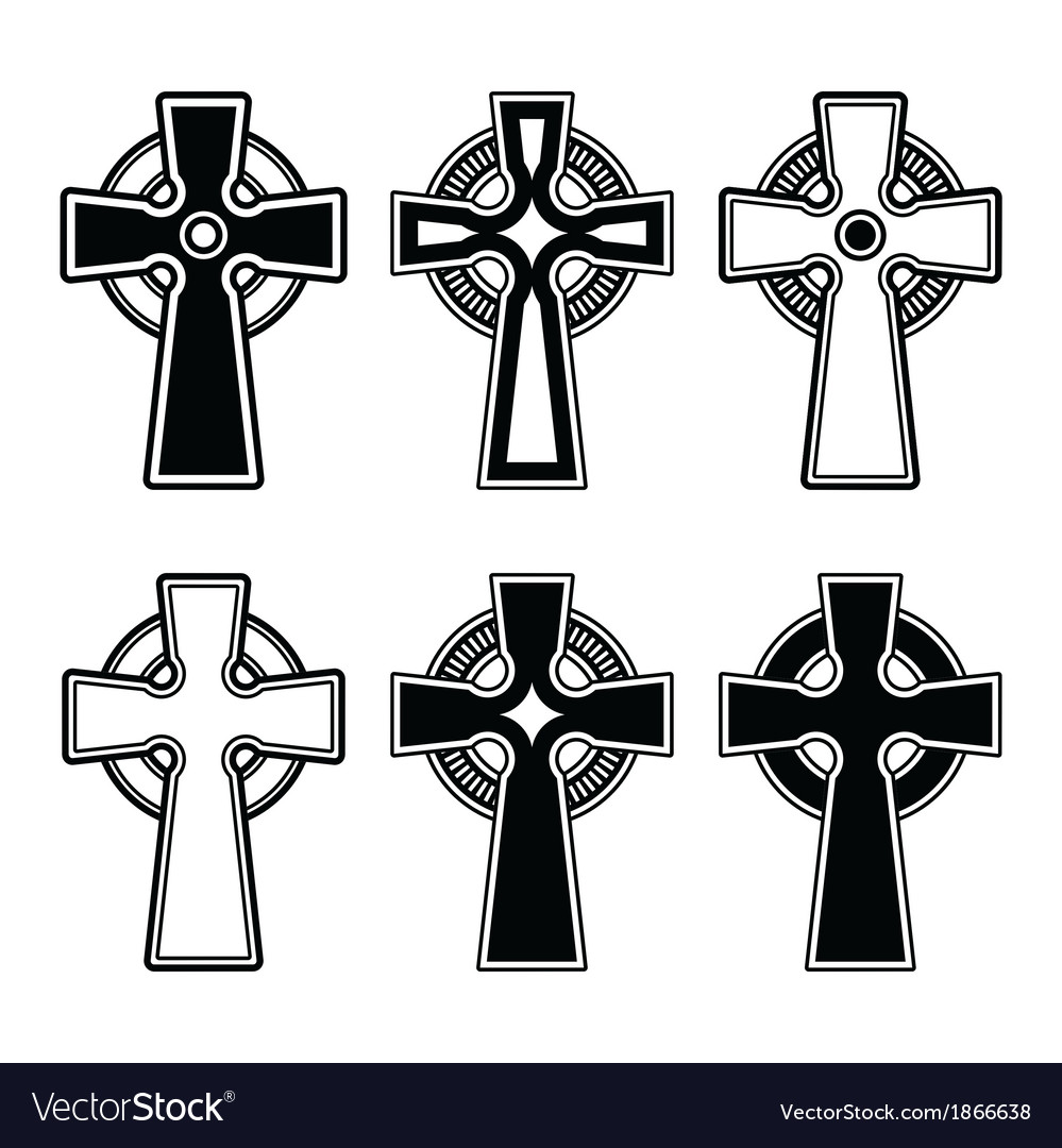 Irish scottish celtic cross sign vector