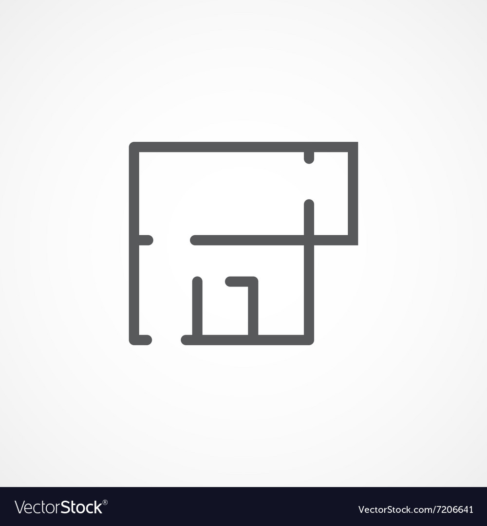 Apartment plan icon vector