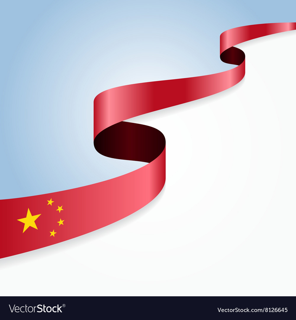 Chinese flag background vector