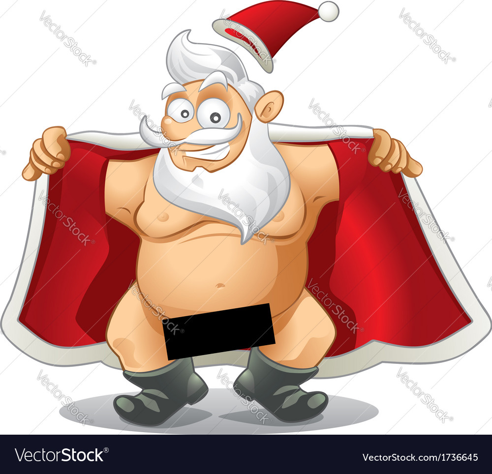 Crazy santa  cartoon vector