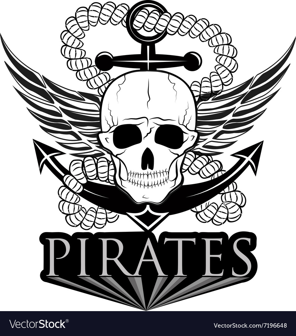 Pirate themed design elements pirate symbol vector