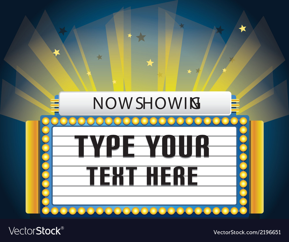 Retro cinema neon sign vector