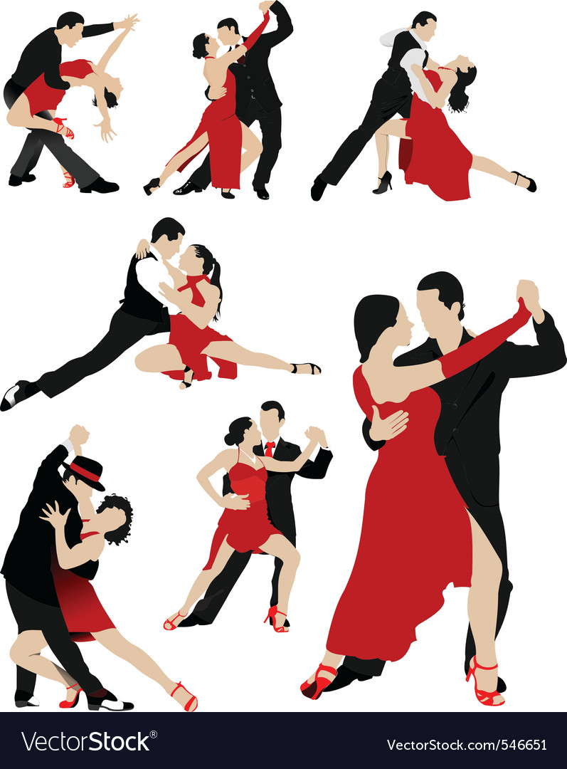 Salsa dancing vector