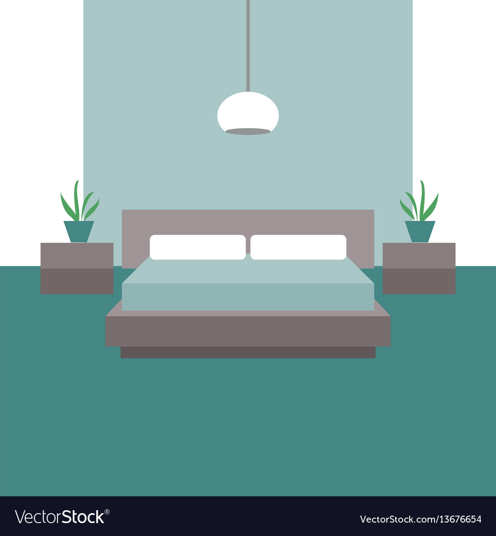 Bedroom interior objects for graphic design vector