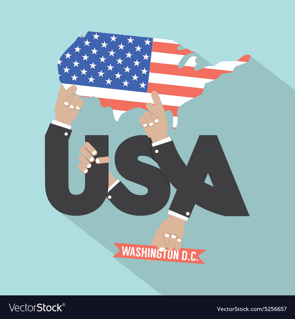 Usa typography design vector