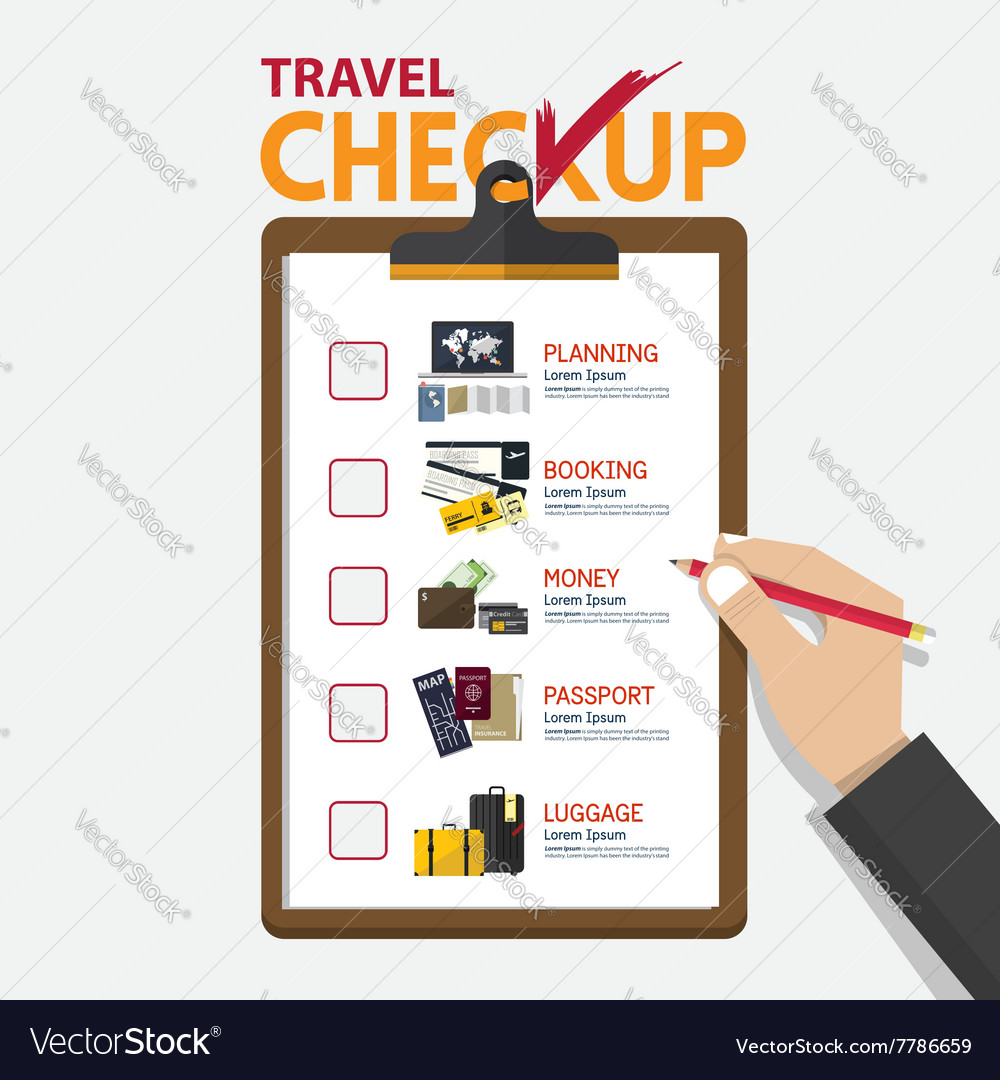 Concept of infographic for travel planning on vector