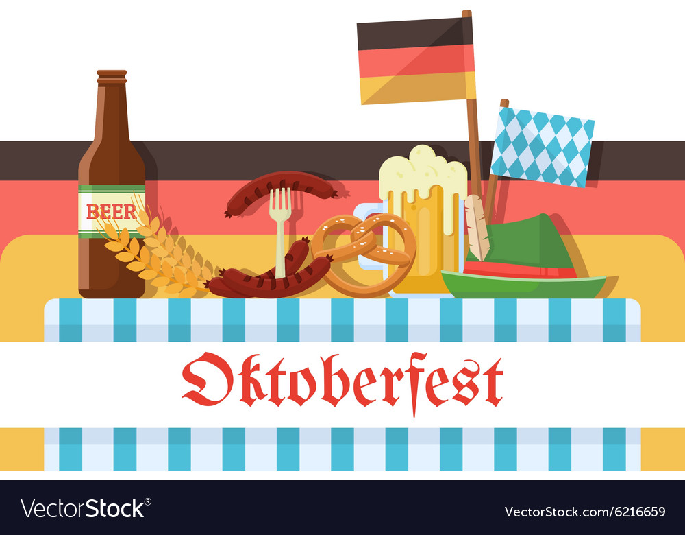 Oktoberfest celebration or banner vector