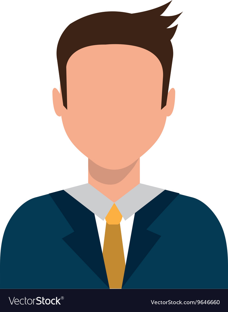 Avatar business man graphic vector