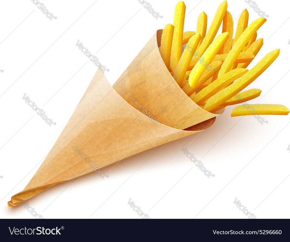 French fries potatoes in vector