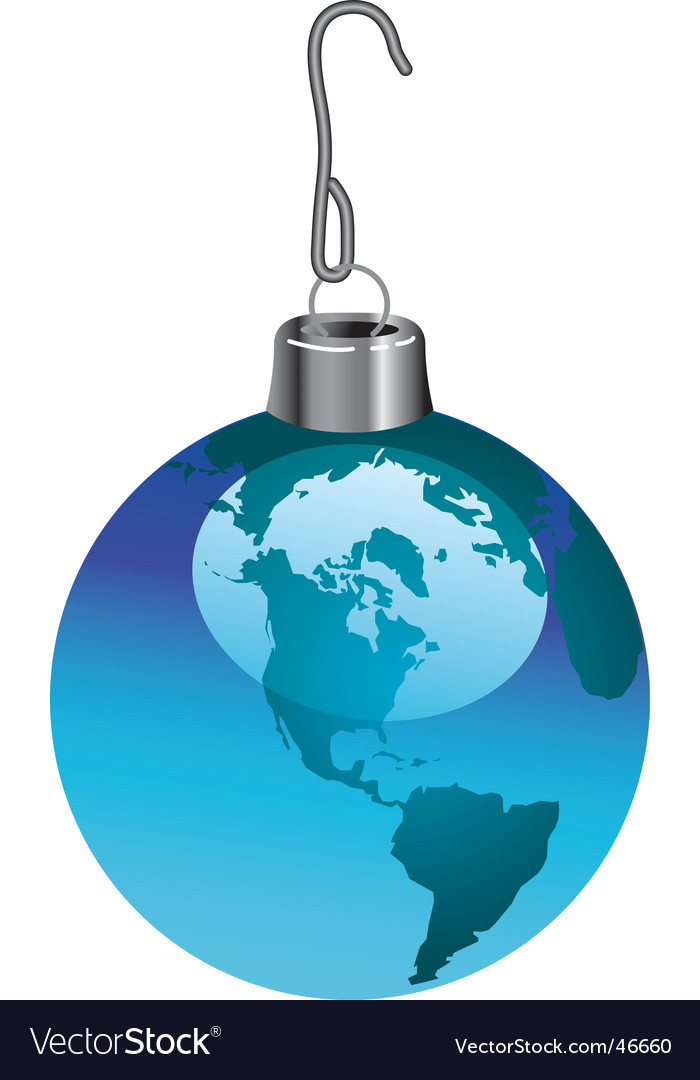 Globe ornament vector