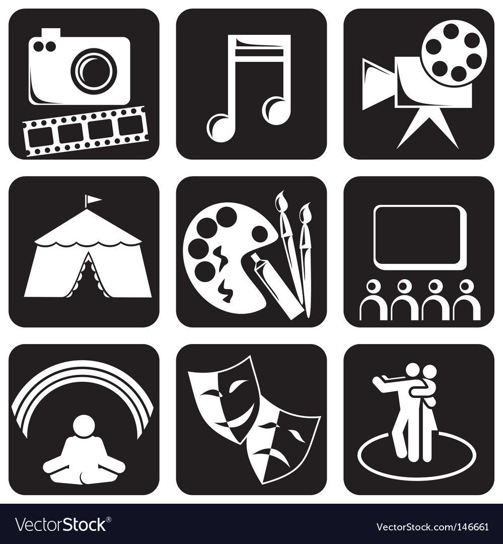 Icons art vector