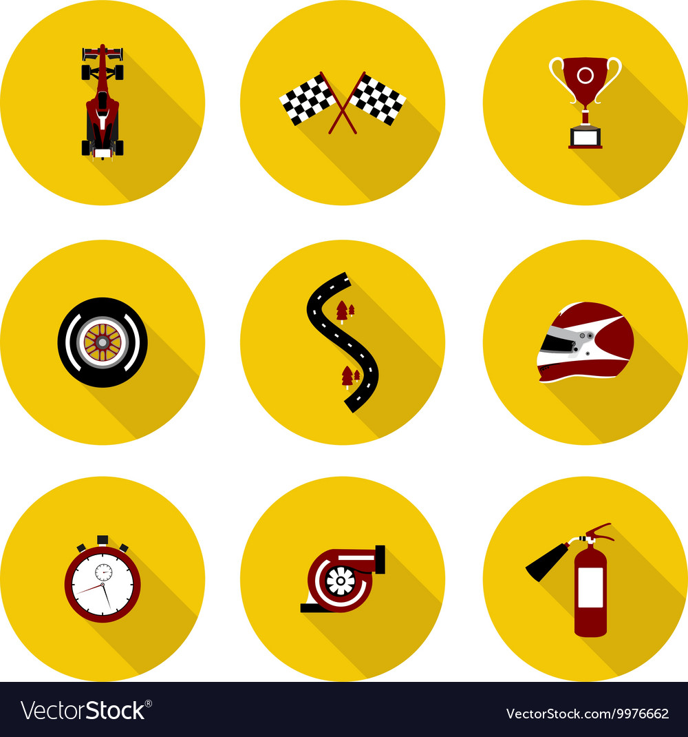 Set of flat icons race vector