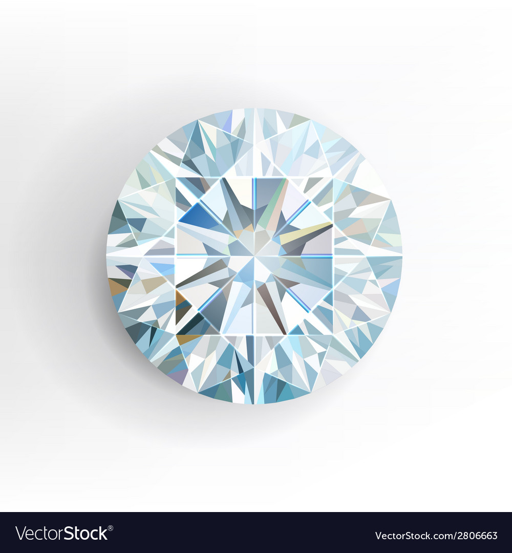 Diamond isolated on white background vector