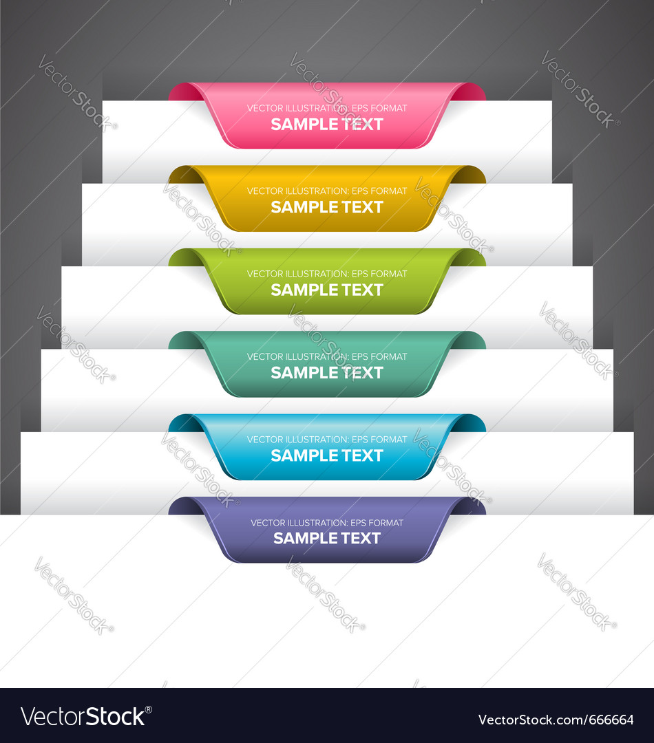 Bookmark labels vector
