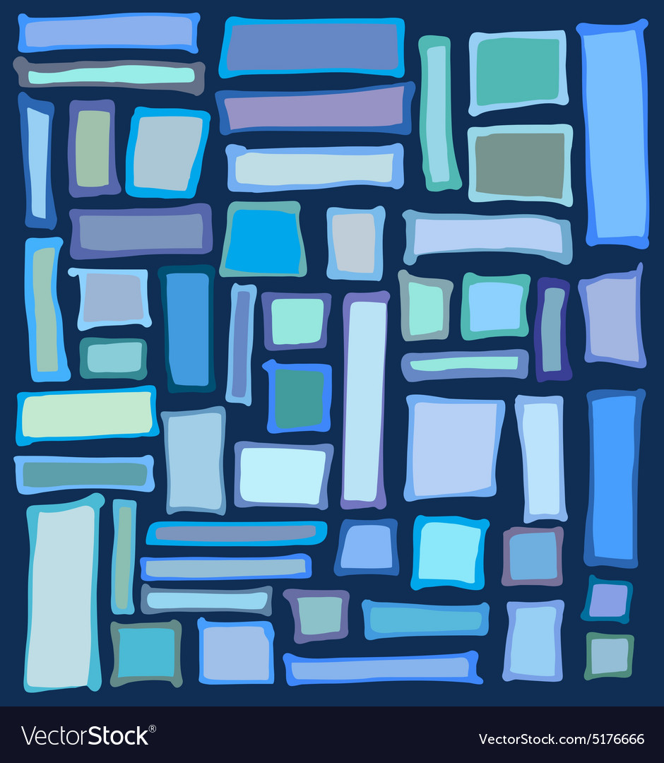 Liquid rectangle and square shapes in blue purple vector