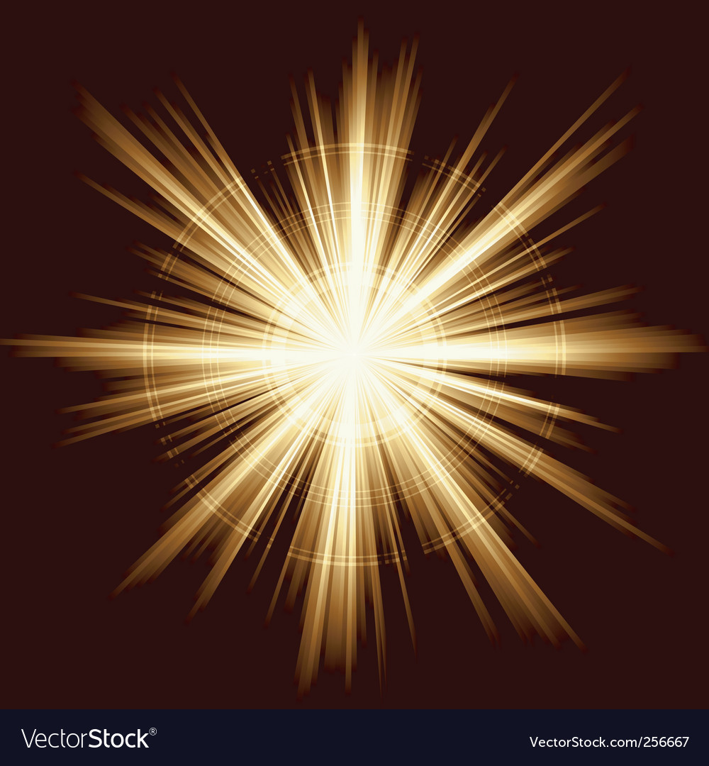 Light burst fireworks lens vector