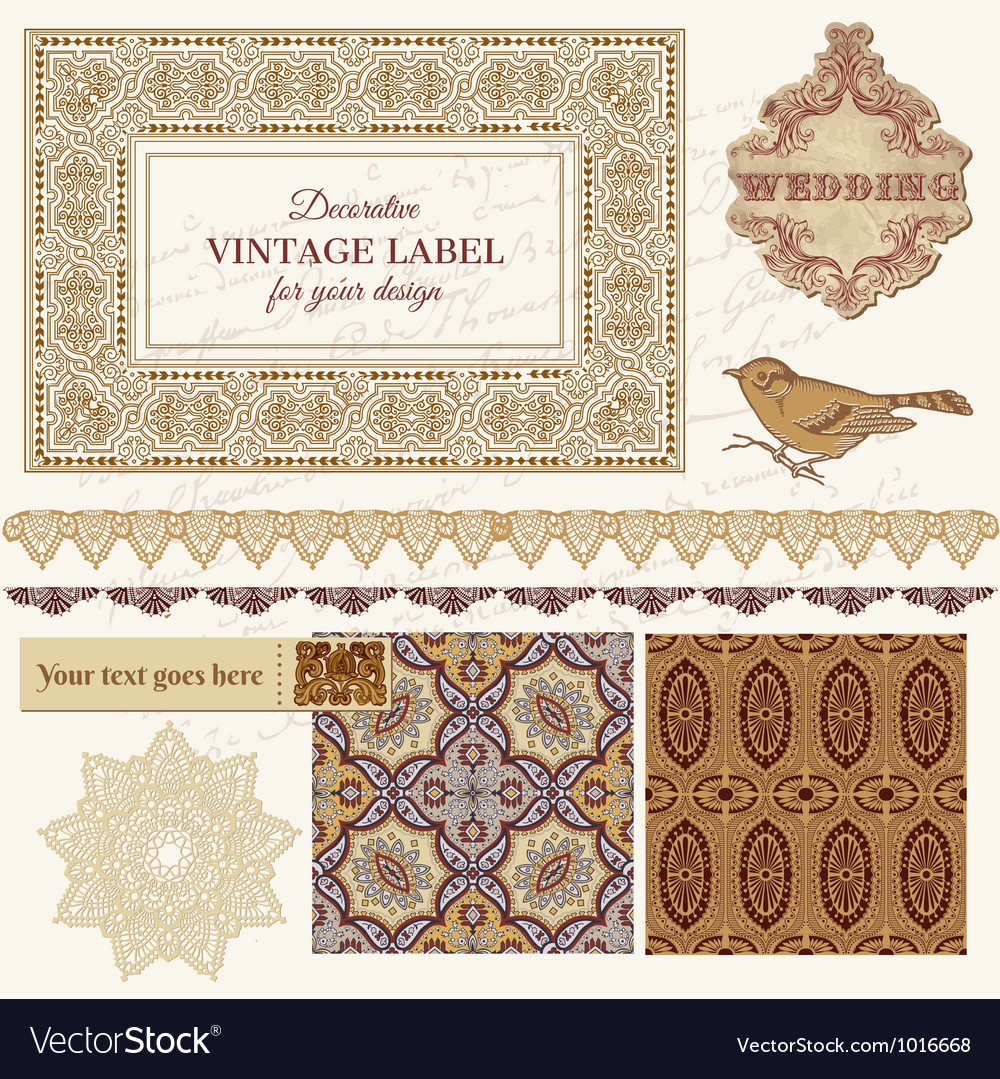 Persian tiles and birds vector