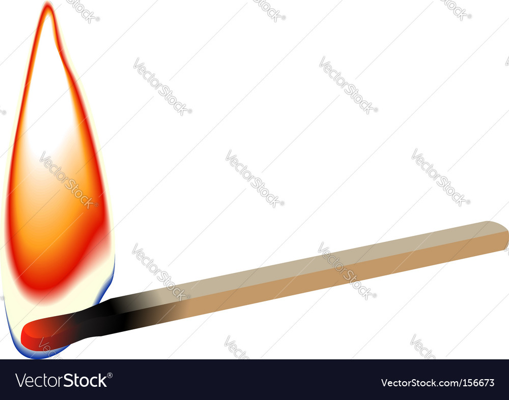 Match stick flame vector