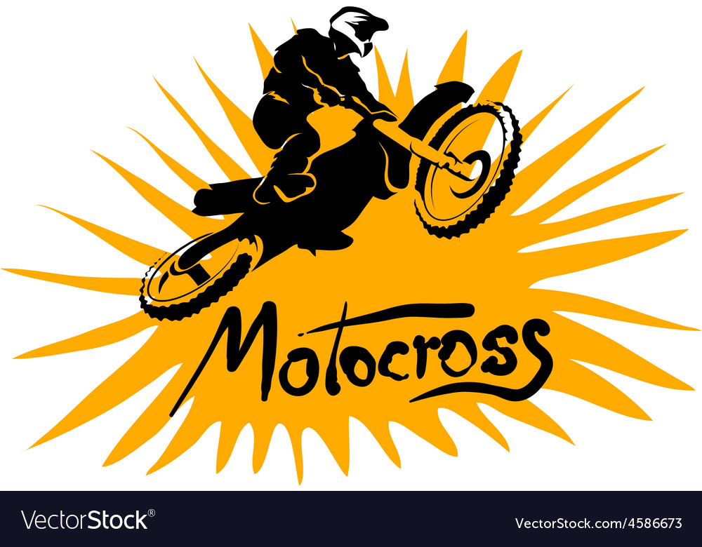 Motocross picture vector