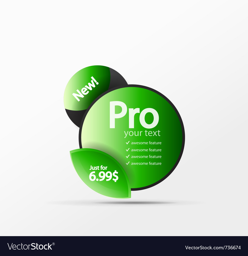 Promo web box vector