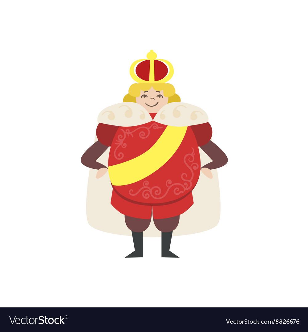 Fairytale king drawing vector