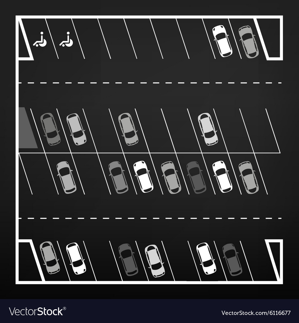 Parking lot top view vector