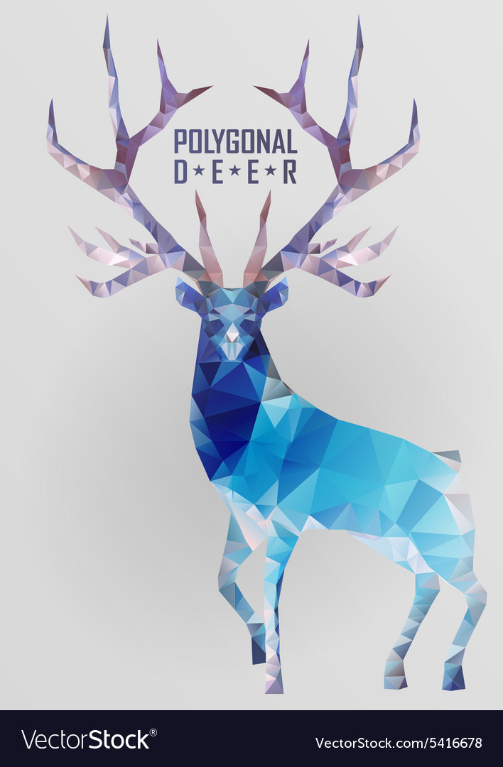 Abstract polygonal deer vector