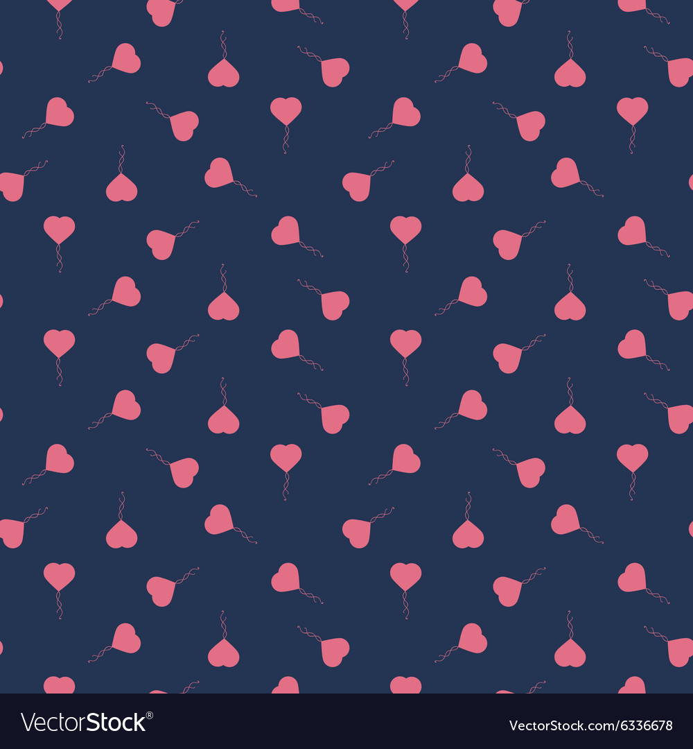 Seamless pattern with heart balloons vector
