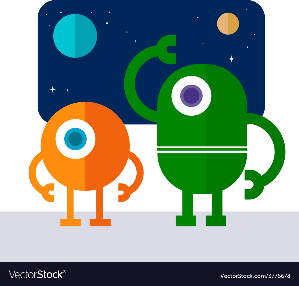 Space robot vector