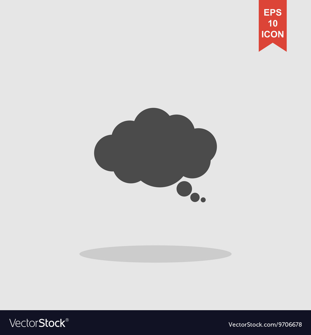 Speech bubble modern design flat style icon vector