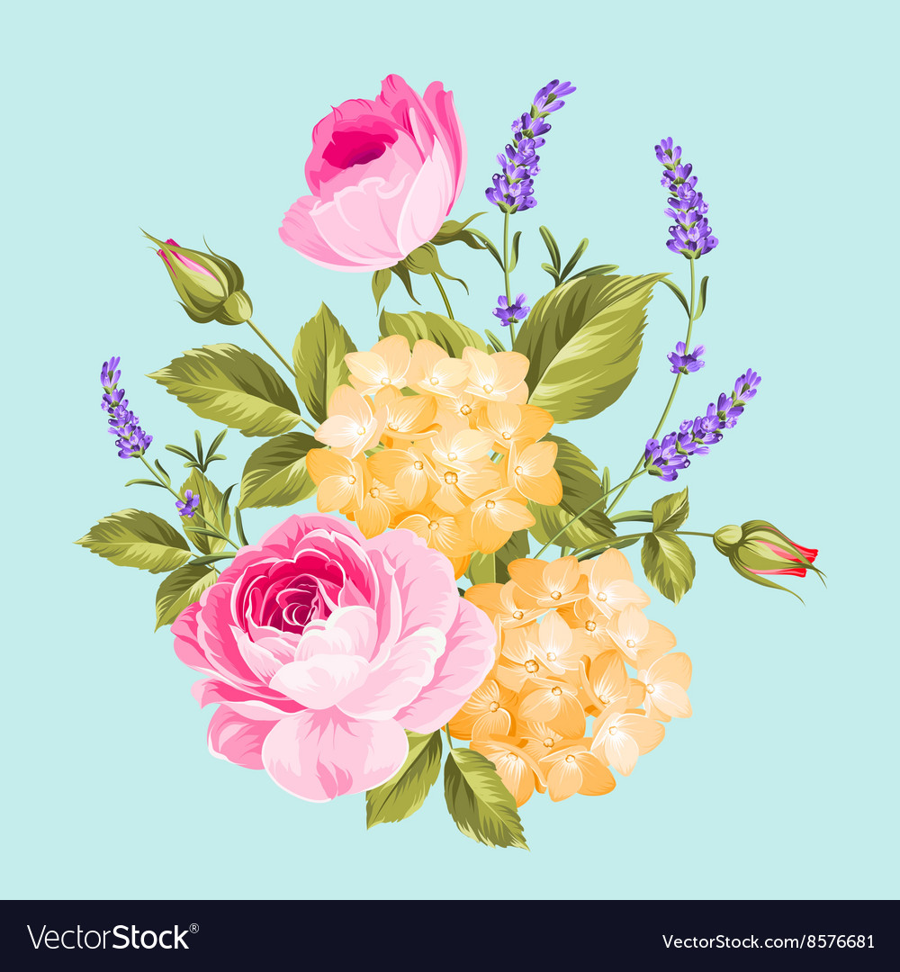 Single rose bouquet vector