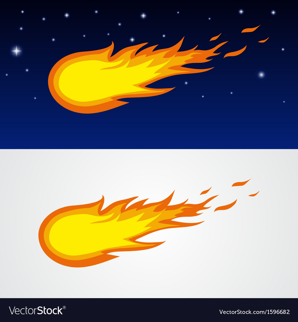 Comets caricature vector