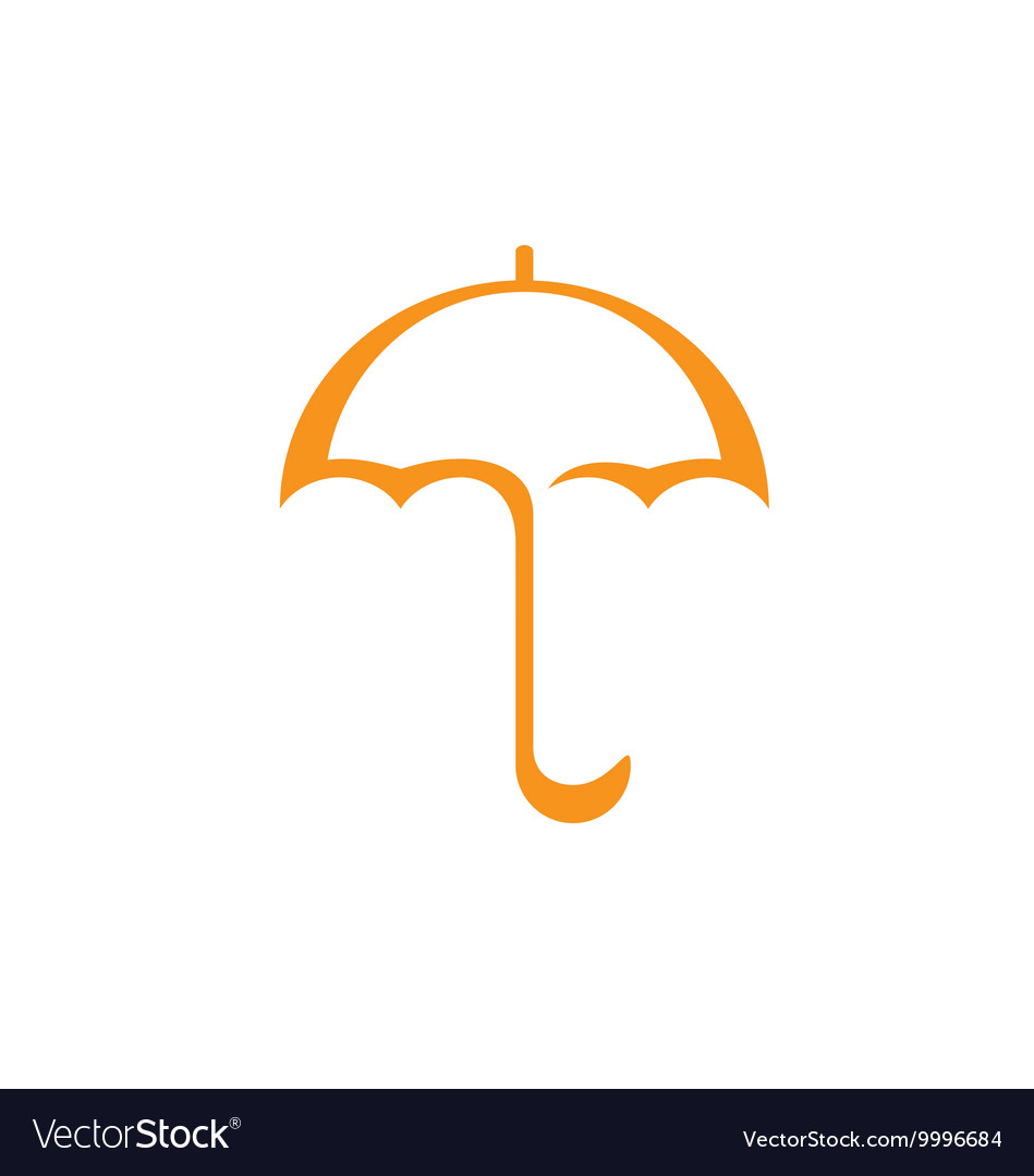 Original stylized umbrella vector