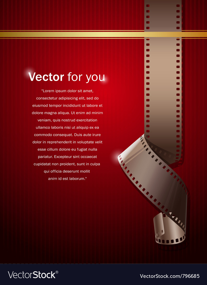 Camera film roll on wallpaper red background vector