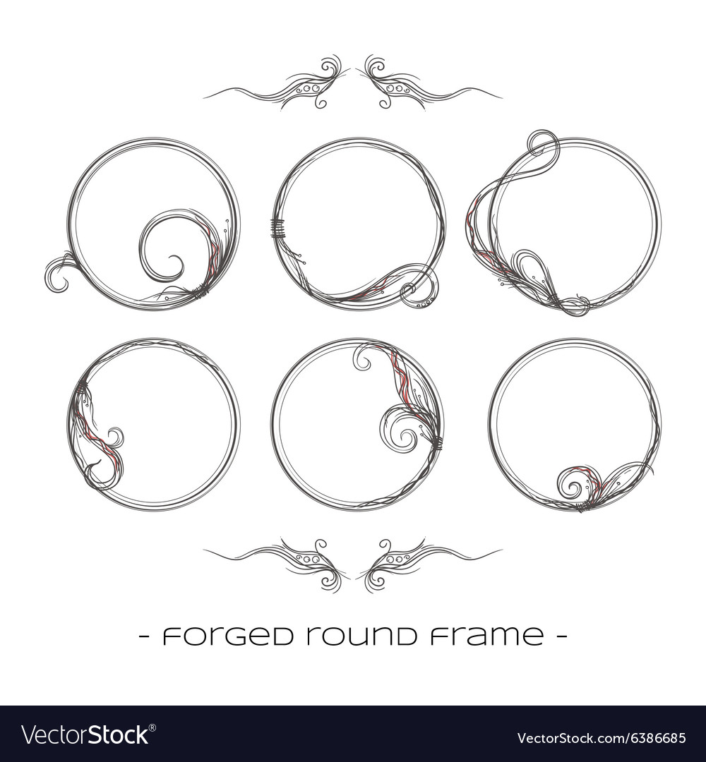 Set forged products vector