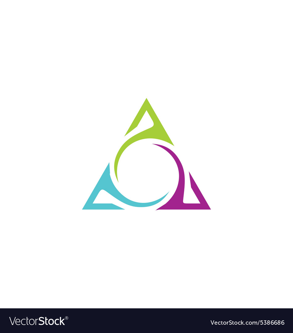 Unusual triangle abstract business logo vector