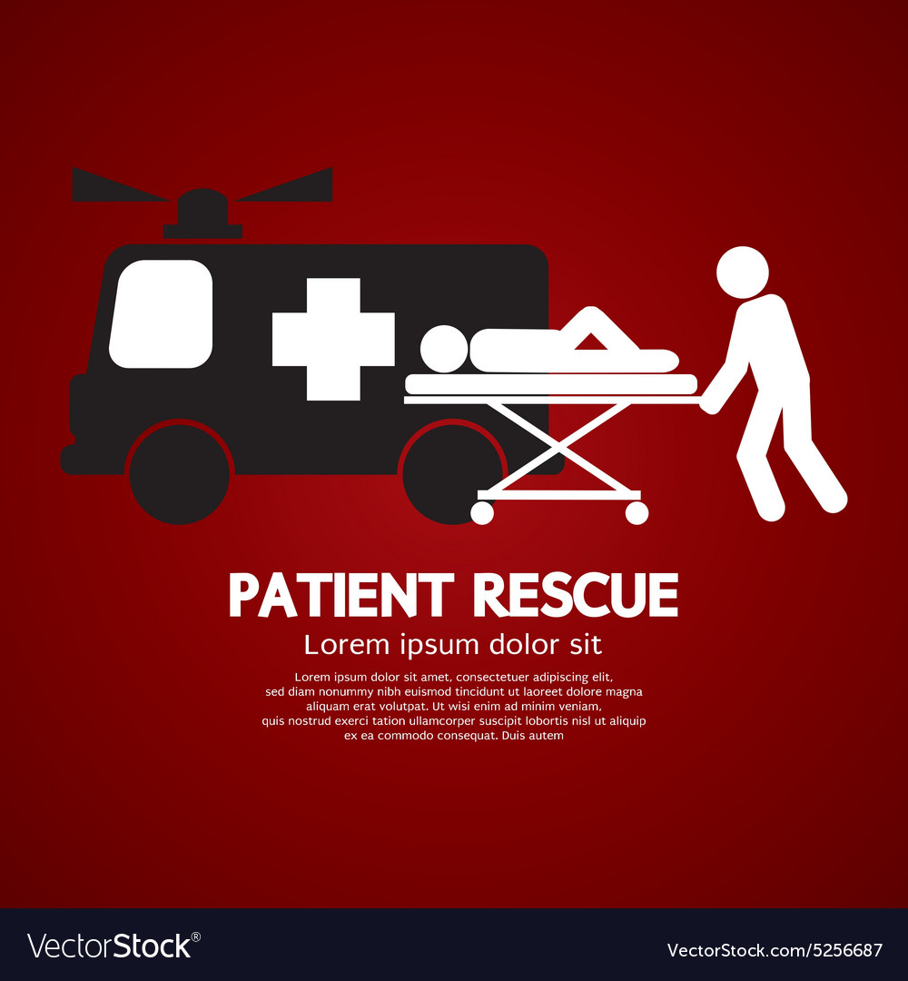 Patient rescue symbol vector