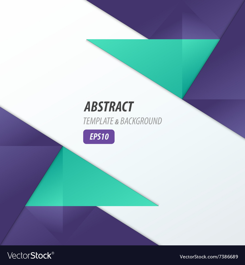 Polygons design template violet and blue color vector