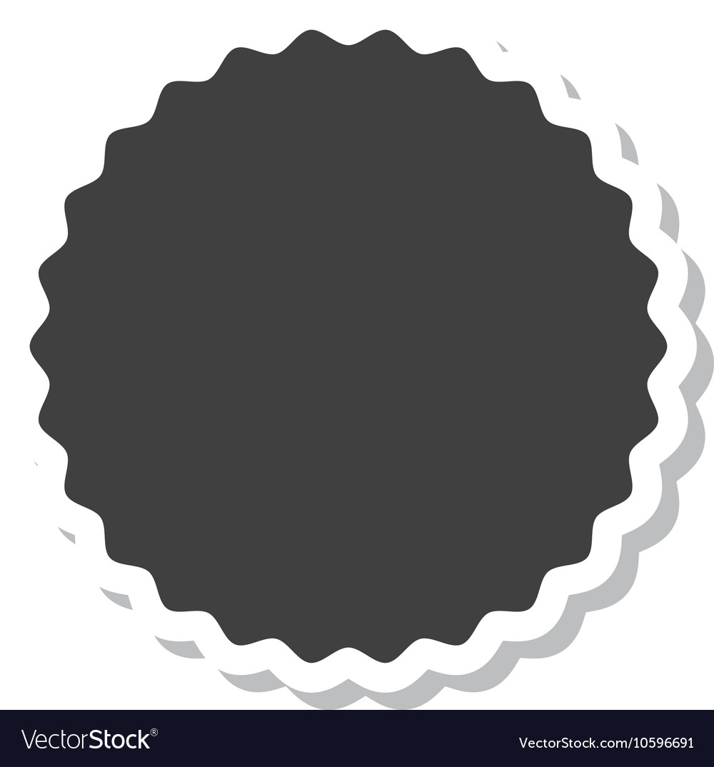 Circle frame elegant icon vector