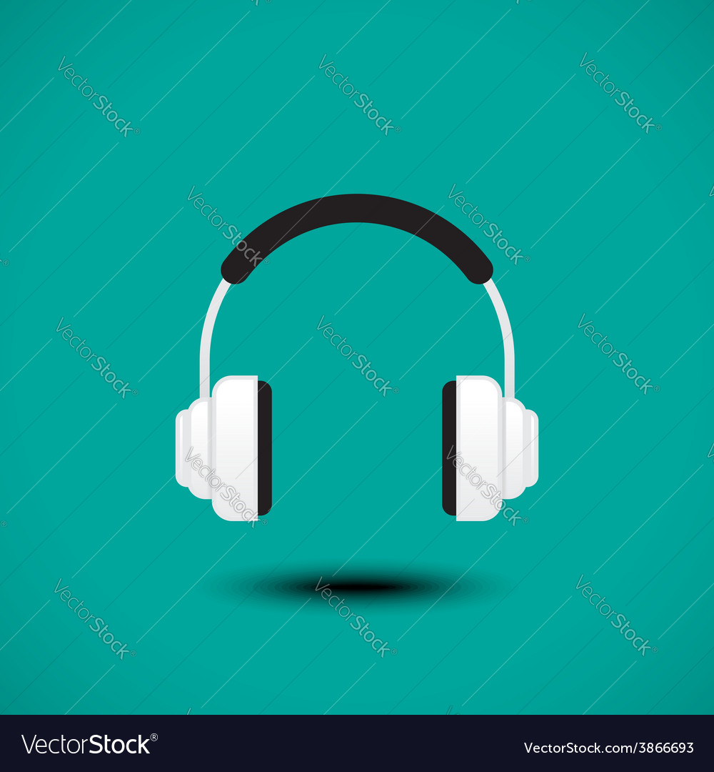 Earphone sign vector