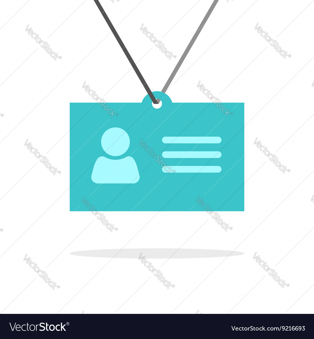 Name tag badge icon identification card vector