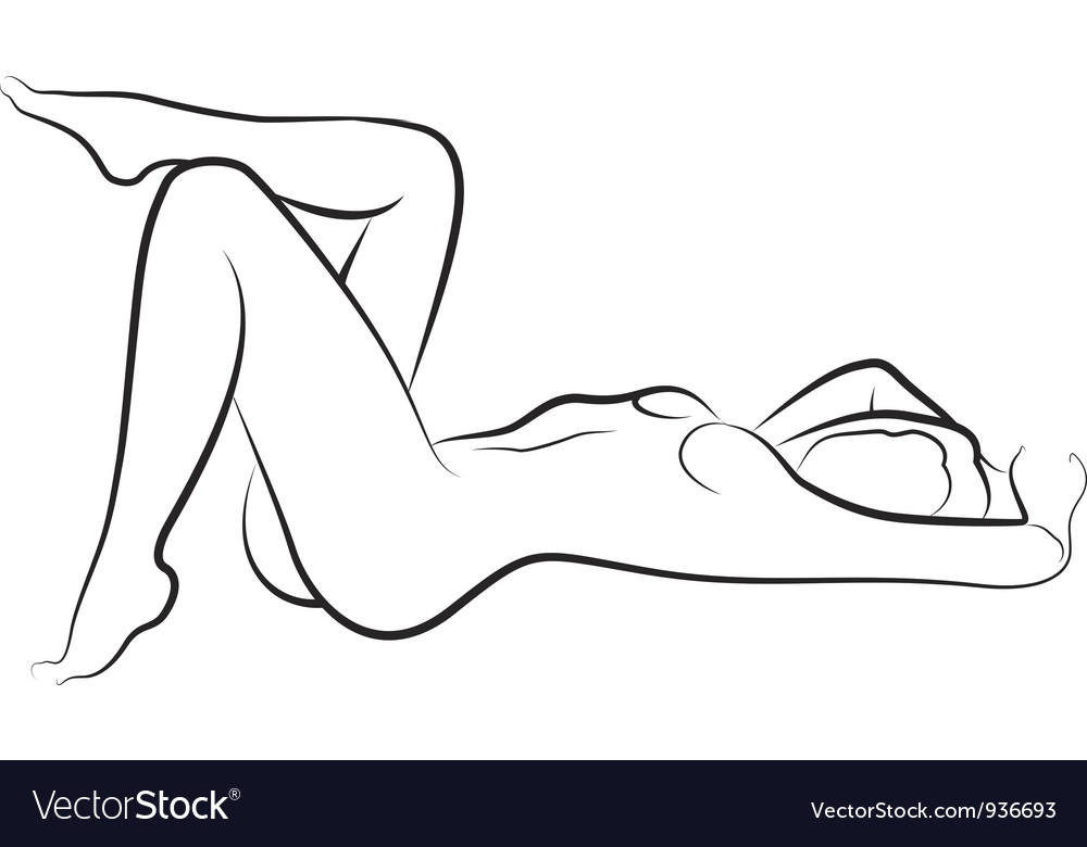 Nude woman vector