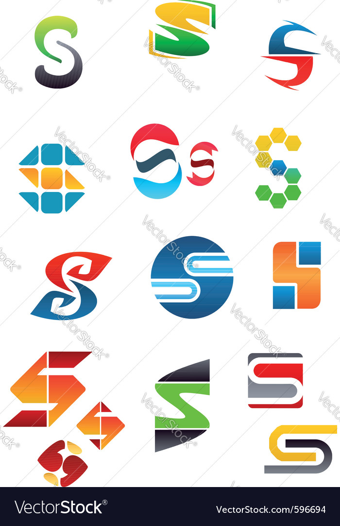 Set of alphabet symbols vector