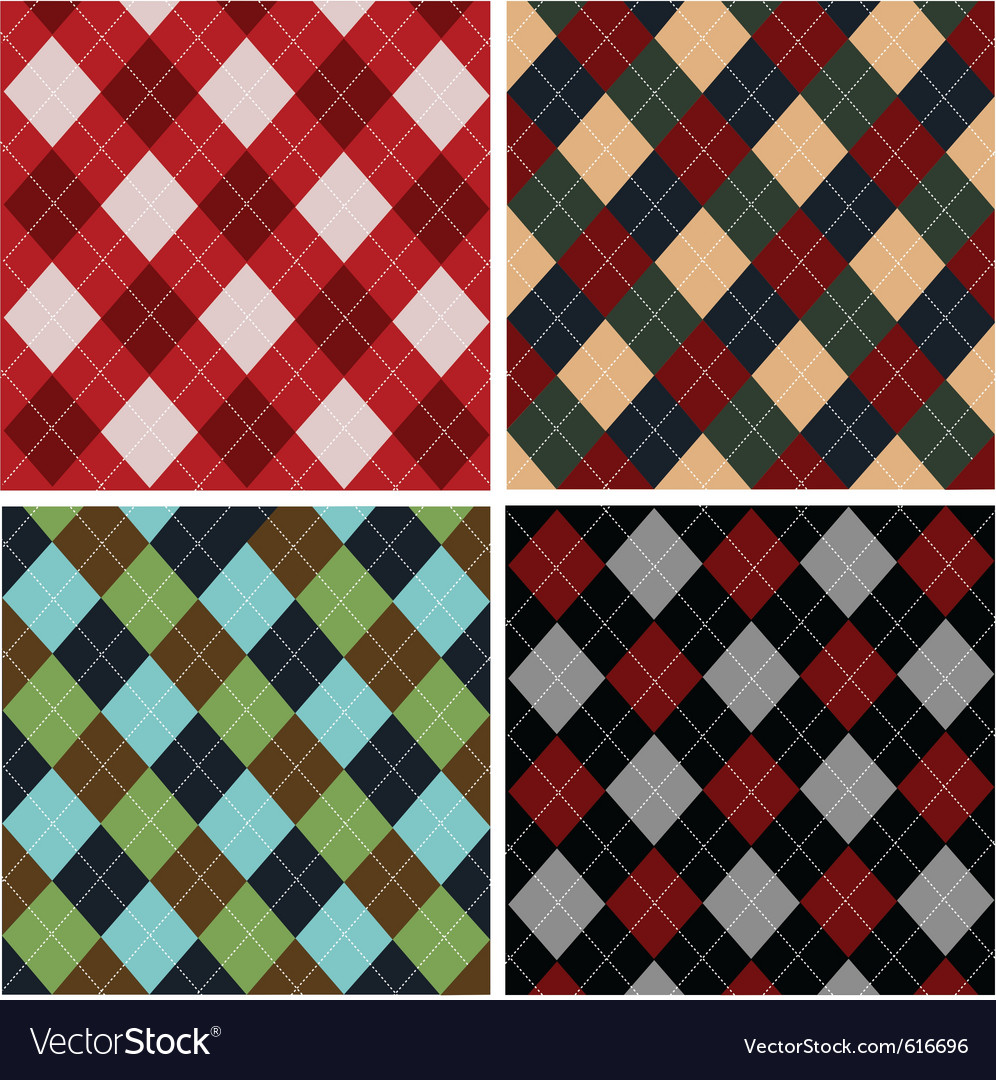 Set of plaid patterns  cottons vector