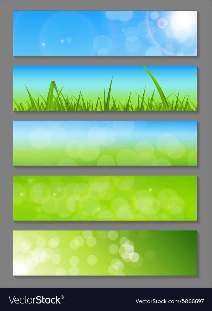 Natural sunny backgroundc banner vector